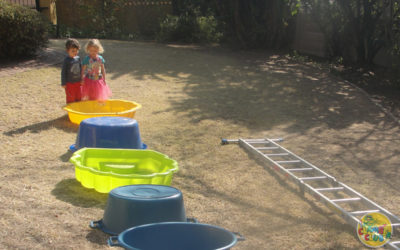 Almost Summertime Garden Obstacle Course