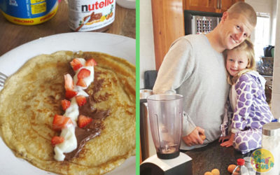 Baker dad's amazing Sunday pancakes