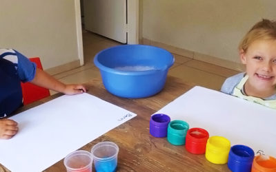 Finger painting for the different ages