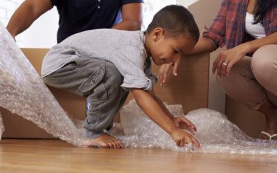 Bubble wrap sensory play