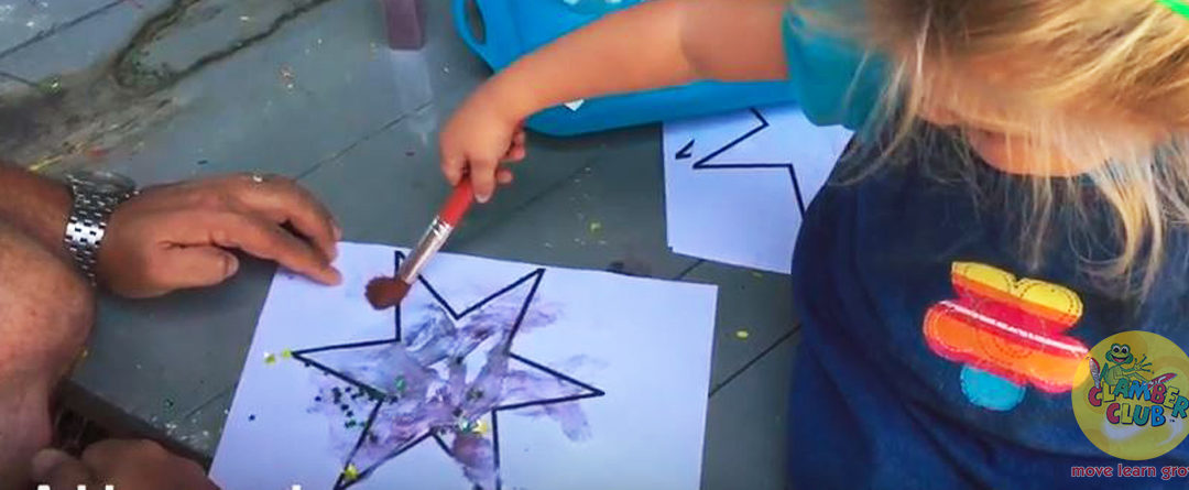 Learning about shapes - make a star picture