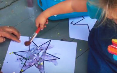 Learning about shapes – make a star picture