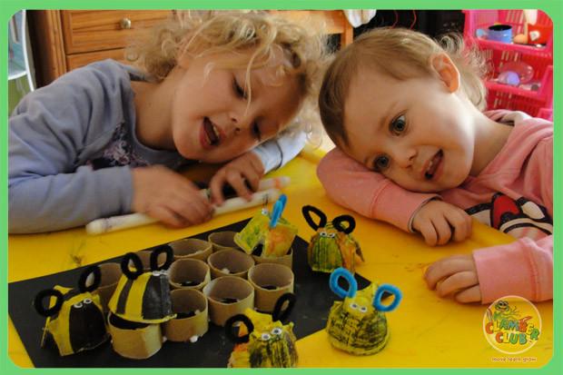 Egg box bees